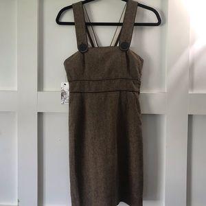 Very cute tweed  overalls/dress